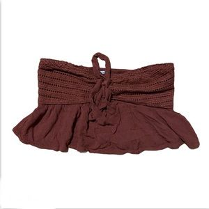 American Eagle Strapless Crop Top size Small